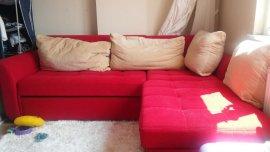 2.el kırmızı köşe + yastıklar