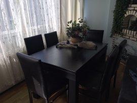 siyah modernyemek masası