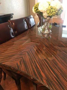 laminat ahşap rengi yemek masası