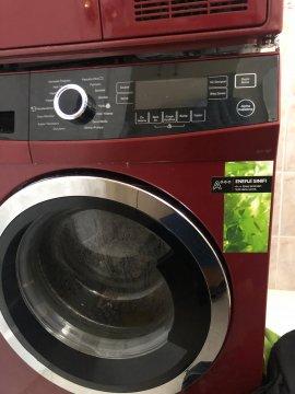 2.el kırmızı çamaşır makinesi