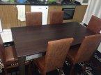kahverengi yemek masası takımı