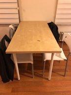 6 sandalyeli geniş yemek masası